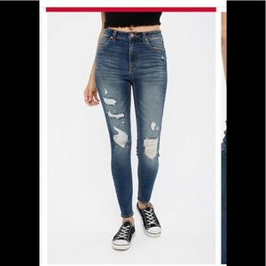 Blue notes distressed skinny jeans